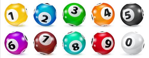 Lotto bollar i olika färger
