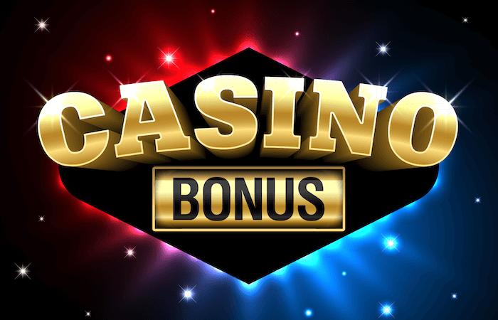 Texten Casino bonus i flera färger