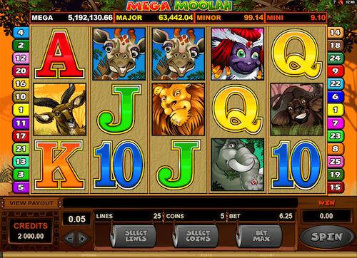 Mega Moolah casino logotyp